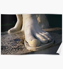 Foot Statue Detail, Foro Italico in Rome, Italy  Poster
