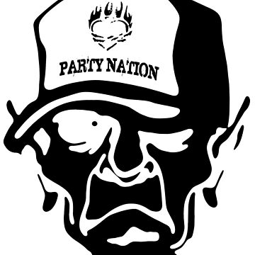 Party Nation - Skull Design by lemmy666