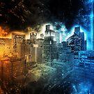 Houston Skyline by Andrea Mazzocchetti