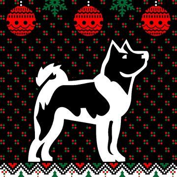 Akita dog Xmas by NovaPaint