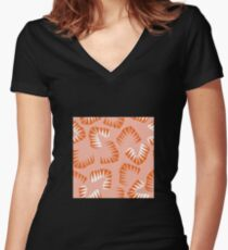 Organic 11 Women's Fitted V-Neck T-Shirt