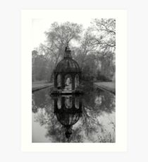 Garden at the Chateau de Chantilly Art Print