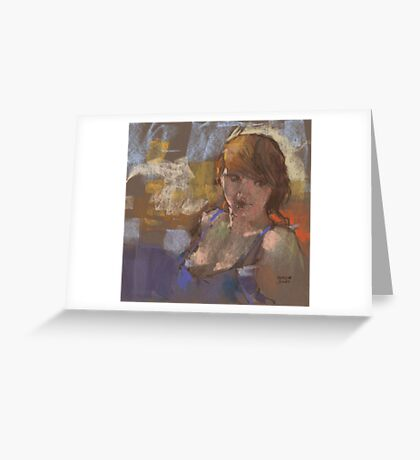 quick study of Molly Greeting Card
