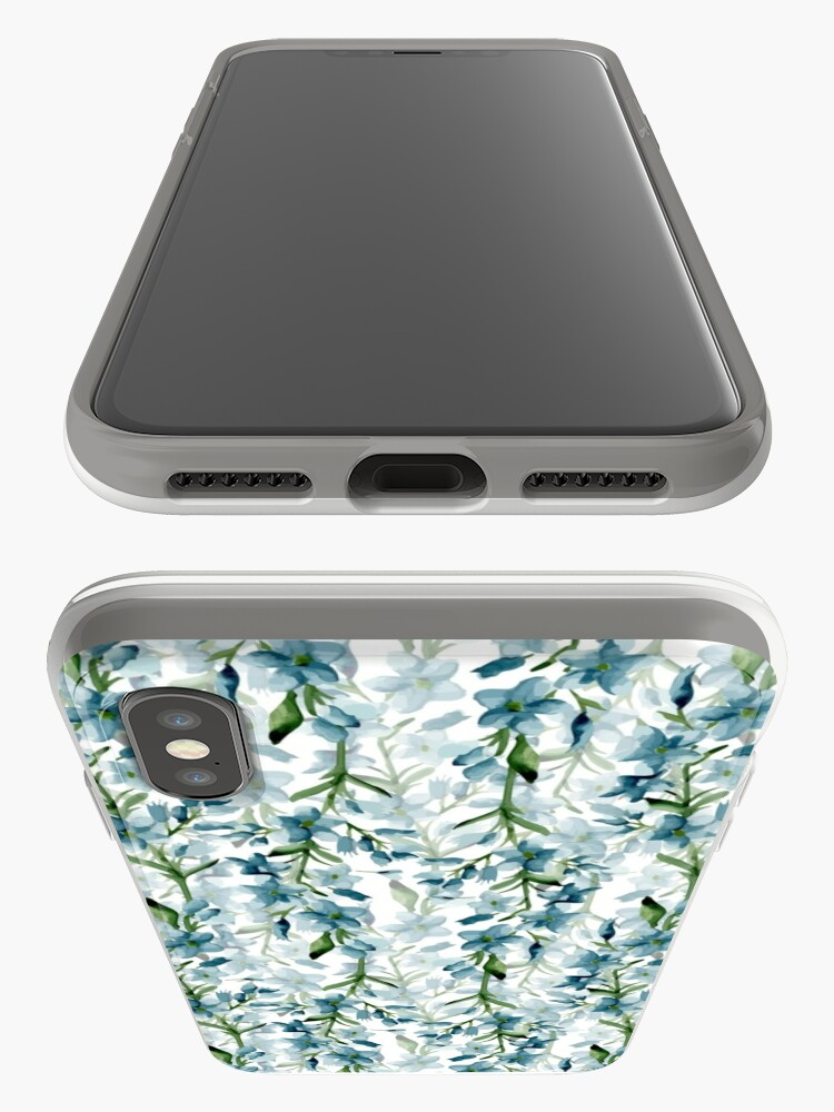 Alternate view of Blue branches iPhone Cases & Covers