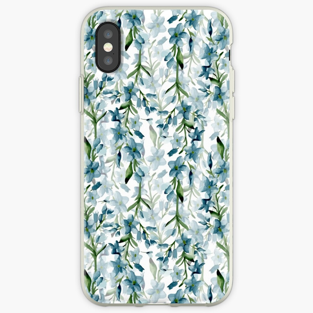 Blue branches iPhone Case & Cover