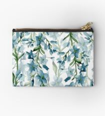 Blue branches Zipper Pouch