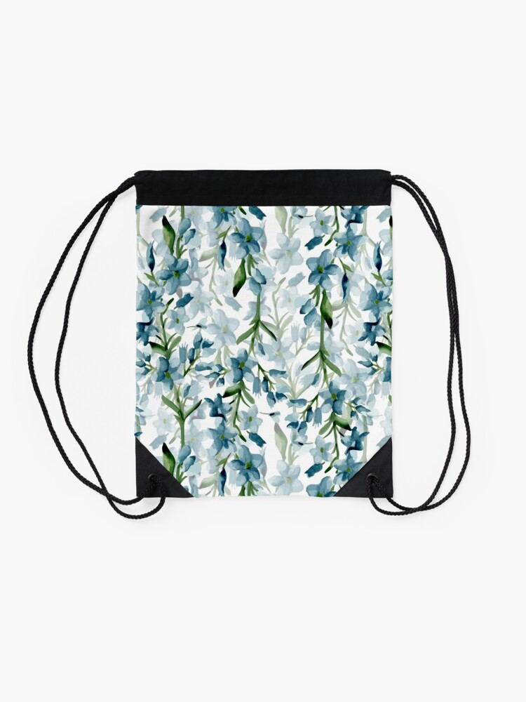 Alternate view of Blue branches Drawstring Bag