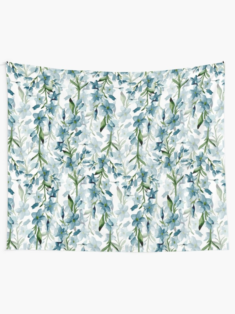 Alternate view of Blue branches Wall Tapestry