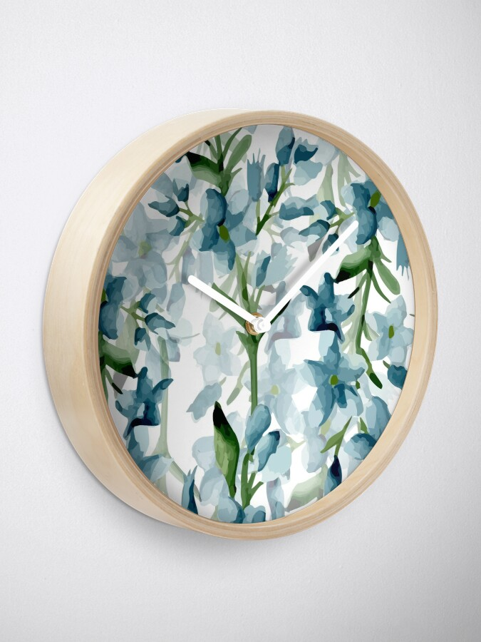 Alternate view of Blue branches Clock