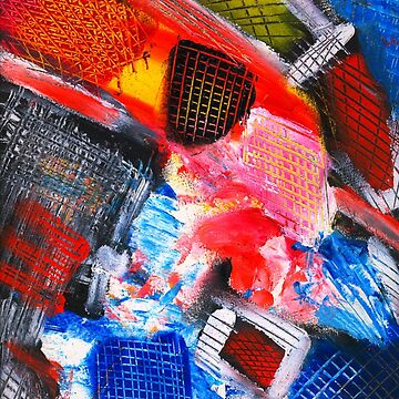 Parrots of Love Abstract Painting Joyful by signorino