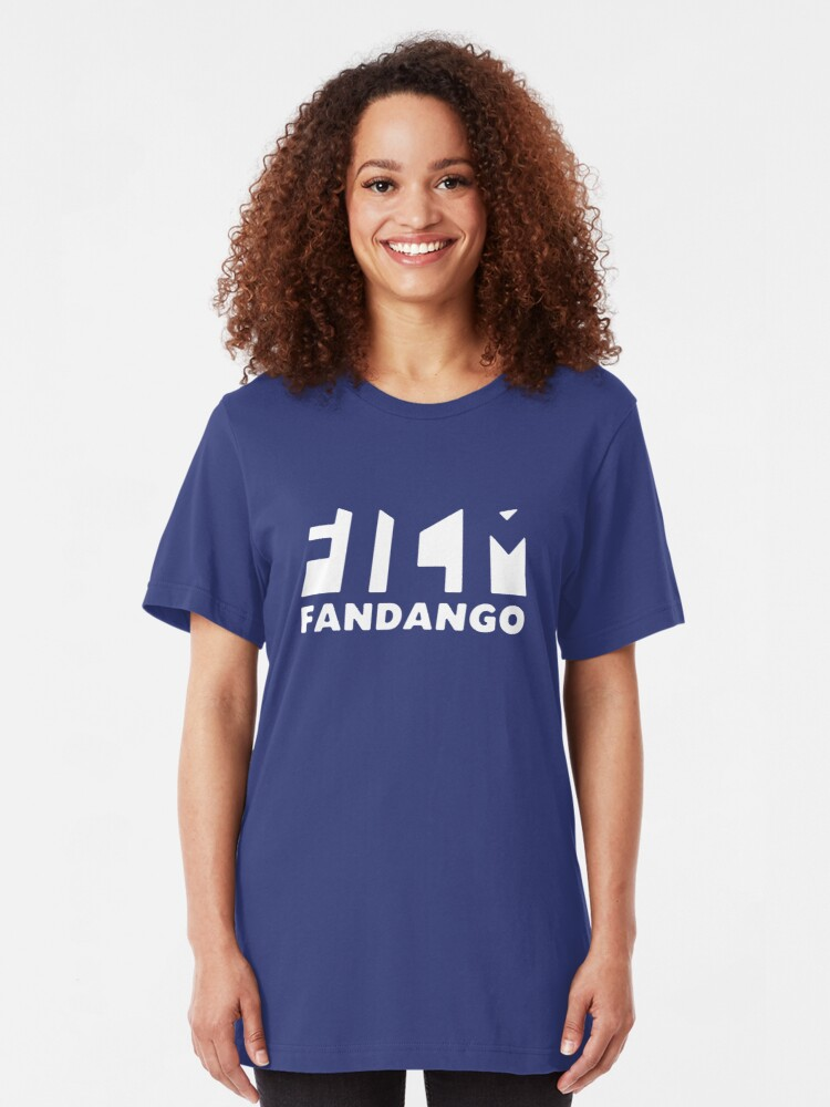 Alternate view of Film Fandango Logo - WHITE Slim Fit T-Shirt