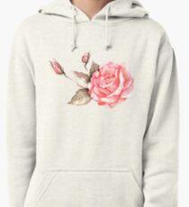 Watercolor rose Pullover Hoodie