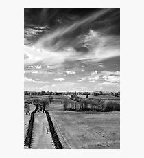 Tranquil Battlefield, Chaotic Sky Photographic Print