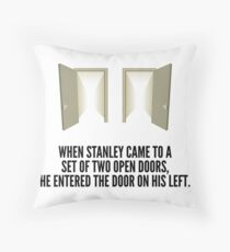 The Stanley Parable Doors Throw Pillow