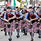 Highland Games Bagpipes by Tamara Valjean