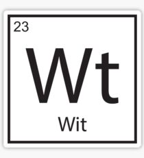 The Element of Wit Sticker