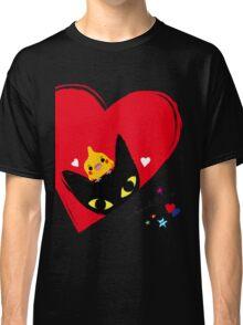 BLACK CAT,COCKATIEL,HEARTS Classic T-Shirt
