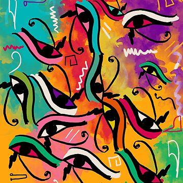 Horus Eye Pattern 1 by NoraMohammed