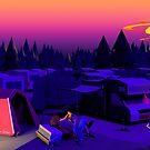 Low Poly Happy Camper von Steffen Wittig