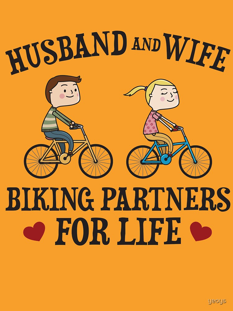 Husband And Wife Biking Partners For Life - Funny Cycling  Gift von yeoys