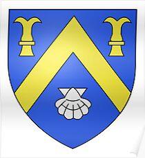 French France Coat of Arms 17248 Blason Laroquebrou Poster