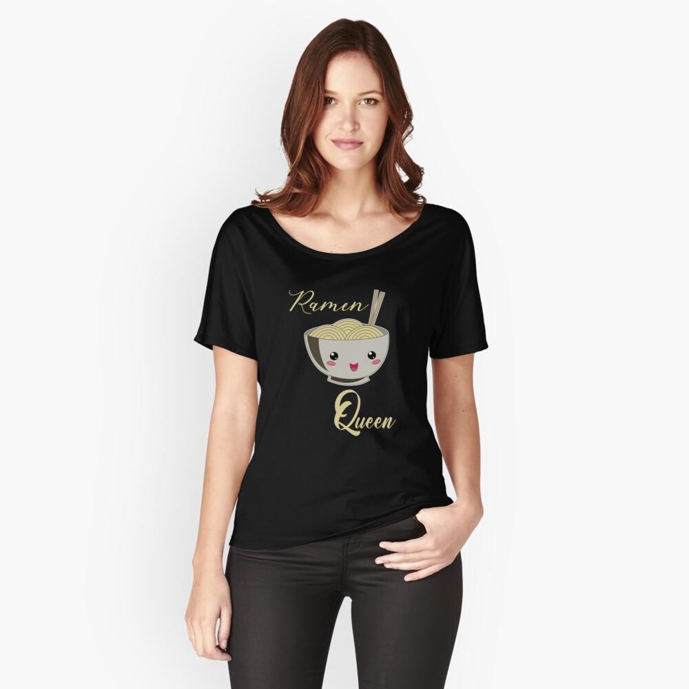 Ramen Queen Japanische Nudeln Vintage Retro Style Loose Fit T-Shirt