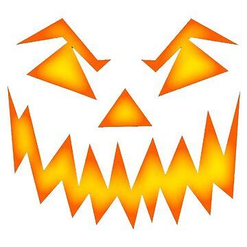 Halloween Fire Pumpkin Face by MartinV96