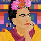 Frida Kahlo - a colorful mind by Anyeva