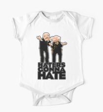 Statler and Waldorf - Haters Gonna Hate Short Sleeve Baby One-Piece
