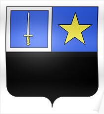 French France Coat of Arms 17251 Blason Laurent Gouvion Saint Cyr Poster