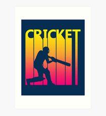 Retro 1980s Cricket Art Print
