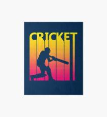 Retro 1980s Cricket Art Board