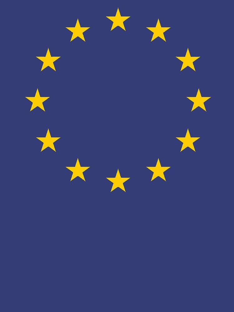 EU, Europäische Kultur, Restposten, STARS, Flagge, Euro, Flagge von Europa, Europäische Union, Flagge, Brüssel von TOMSREDBUBBLE