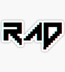RAD Retro Illusion Pixel Art Sticker