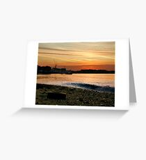 Thames Sunset Greeting Card