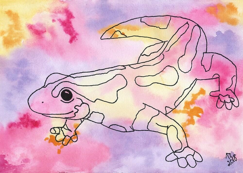 Colourful Salamander by Linda Ursin