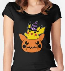Halloween Witch Mouse Women's Fitted Scoop T-Shirt