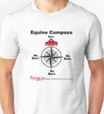 Fergus the Horse: Equine Compass (black) Unisex T-Shirt