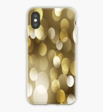 Polka Dots Gold iPhone Case