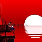 """Low Poly Art """"Sun"""" von Steffen Wittig"""