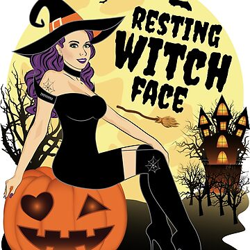 Good Witch Halloween Resting Witch Face by ZNOVANNA