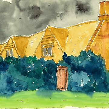 The Whately House from The Dunwich Horror by WaterGardens