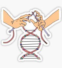 Knitting Together Life (DNA) Sticker