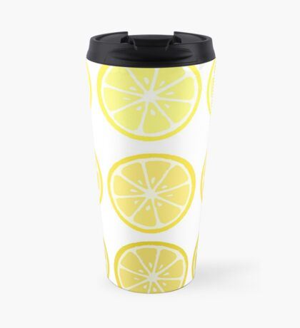 Gradient Lemons Travel Mug