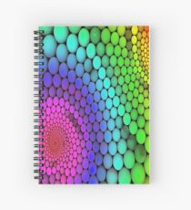 Colorful Polka Dots Painting Spiral Notebook