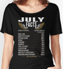 July Facts Tshirt Women's Relaxed Fit T-Shirt
