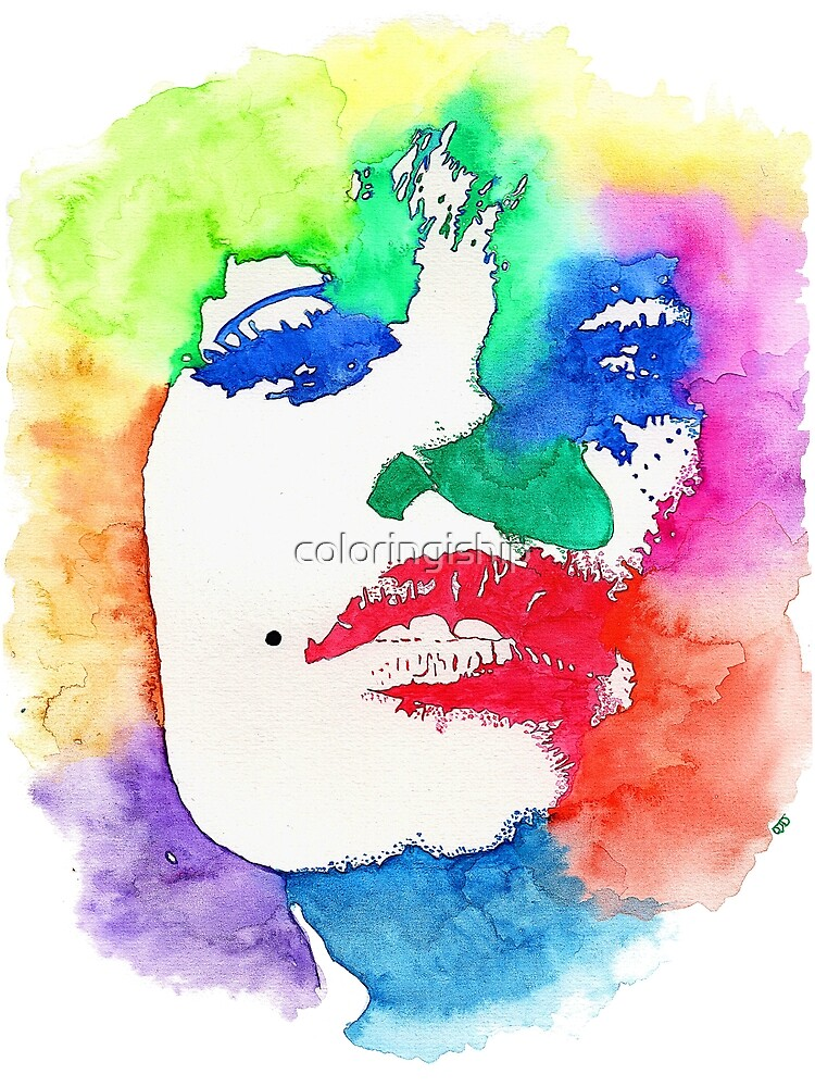 Stencil Watercolor Portrait  | Stencil Portrait Watercolor Art by coloringiship