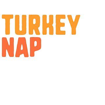 Funny Thanksgiving TShirt - Football Turkey Nap Repeat by railwayblogger