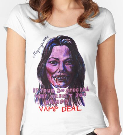 Vamp Deal Women's Fitted Scoop T-Shirt