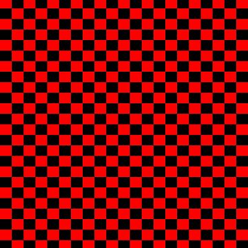 Checkered Boxes Red And Black by MissDewi